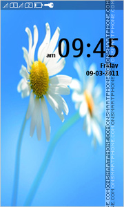 Скриншот темы Chamomile - Flower