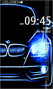 Neon HD BMW Car tema screenshot