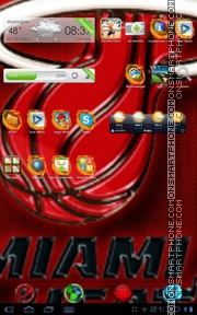 Miami Heart tema screenshot