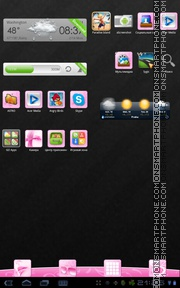 Girly 01 tema screenshot
