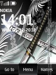Sword Digital Clock theme screenshot