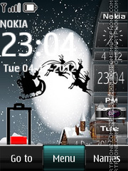 Christmas Dual Clock theme screenshot