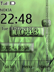 iPhone Style Clock 01 theme screenshot