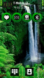 Waterfalls HD v5 theme screenshot