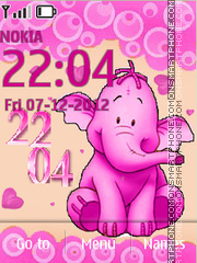 Pink elephant theme screenshot