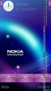 Nokia Purple theme screenshot