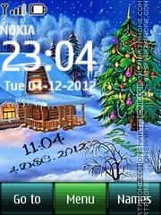 Winter digital clock tema screenshot