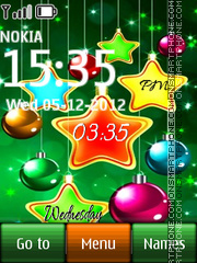 Green christmas digital theme screenshot