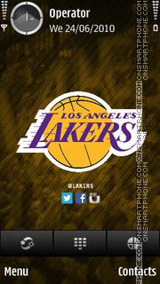 LA Lakers tema screenshot