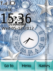Christmas Dual Clock 01 theme screenshot