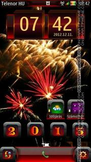 Happy New Year es el tema de pantalla
