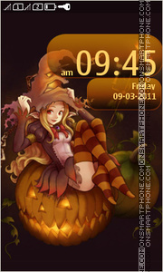 Halloween Asha tema screenshot