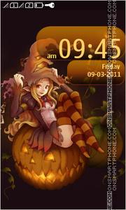 Halloween Asha es el tema de pantalla