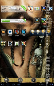 Jack Sparrow 14 theme screenshot