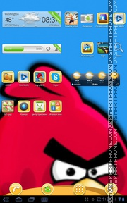 Angrybirds 02 theme screenshot