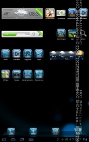 Blue Galaxy tema screenshot