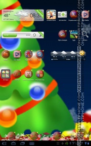 Christmas Tree 13 theme screenshot