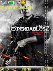 Expendables 2 With Ringtone theme screenshot