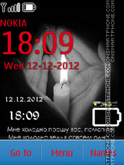 Clock and Hand theme screenshot