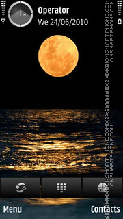 Golden Moon tema screenshot