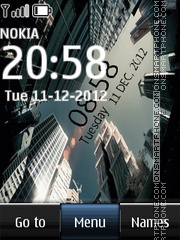 City digital clock theme screenshot