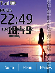 Beach beauty clock theme screenshot