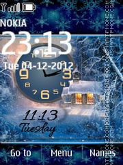 Winter Dual Clock theme screenshot