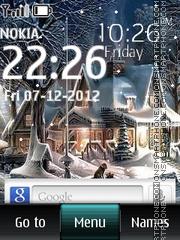Winter Digital Clock 01 es el tema de pantalla