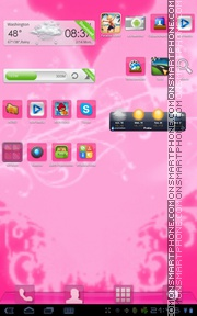 Pink GO Launcher theme screenshot