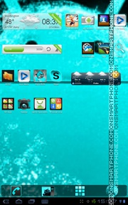 ElectrcCyan tema screenshot
