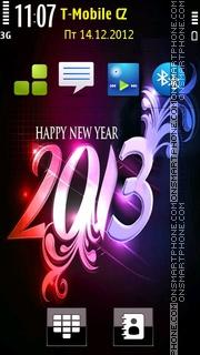 Happy new year 2014 theme screenshot