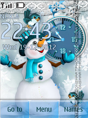 Snow theme screenshot