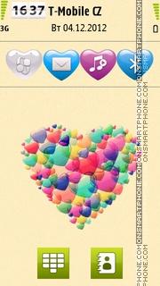 Love Bubble tema screenshot