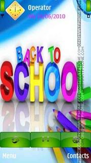 Back To School es el tema de pantalla