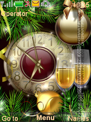 New Year's clock theme screenshot