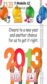 New Year 2013 01 theme screenshot