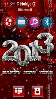 New Year HD es el tema de pantalla