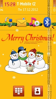 Snowmen Wish You Merry Christmas es el tema de pantalla