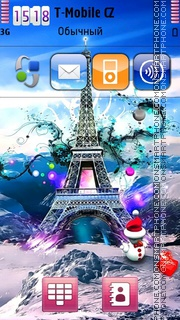 New Year In Paris theme screenshot