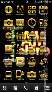 Golden Alone theme screenshot