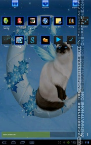 Winter Kitty 01 tema screenshot