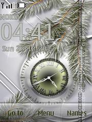 Holiday Clock es el tema de pantalla