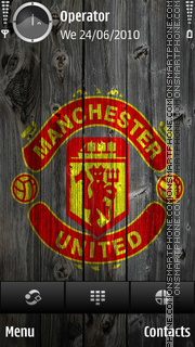 Manchester United Wood theme screenshot