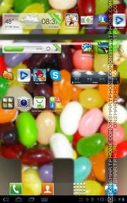 Nexus 7 - Jelly Beans tema screenshot