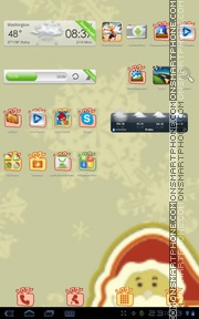 Merry Christmas 2024 tema screenshot