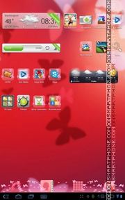 Hearts and Butterfly tema screenshot