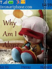 Why I am Alone theme screenshot