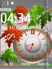 Leaves Dual Clock theme screenshot