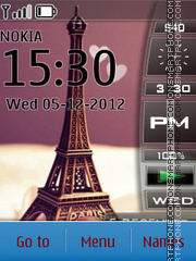Eiffel Tower 15 theme screenshot