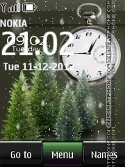 Christmas Dual Clock 02 theme screenshot